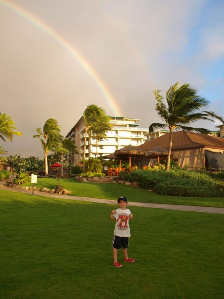 double rainbows in maui hawaii after cancer family vacation