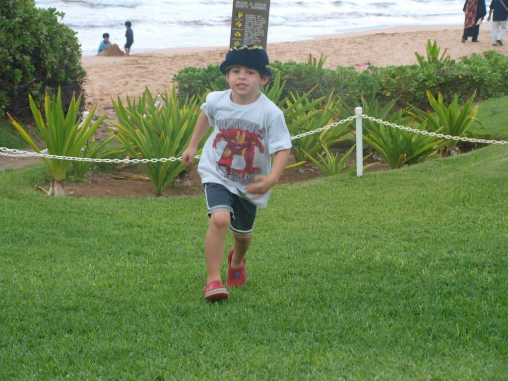 family trip to hawaii after cancer - wailea maui hawaii picture on beach