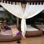 beds by the pool at excellence punta cana resort image