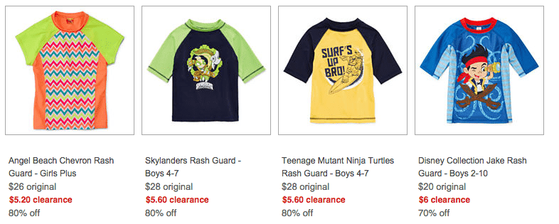 rash guards for kids at jc penney deal swim suits