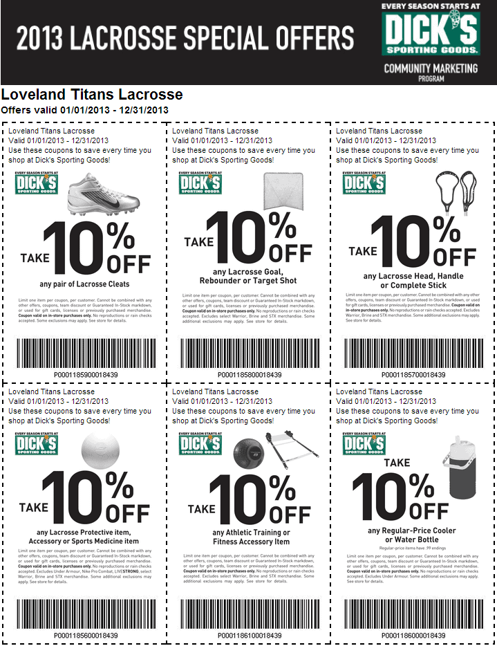 Dick's sporting goods printable coupons $10 off $25 2019