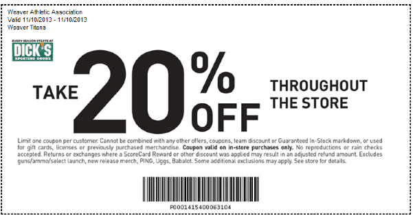 Dicks Sporting Goods Printable Coupons Online And