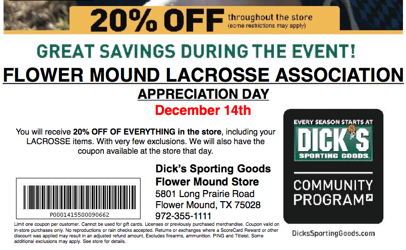 Discount sporting coupon