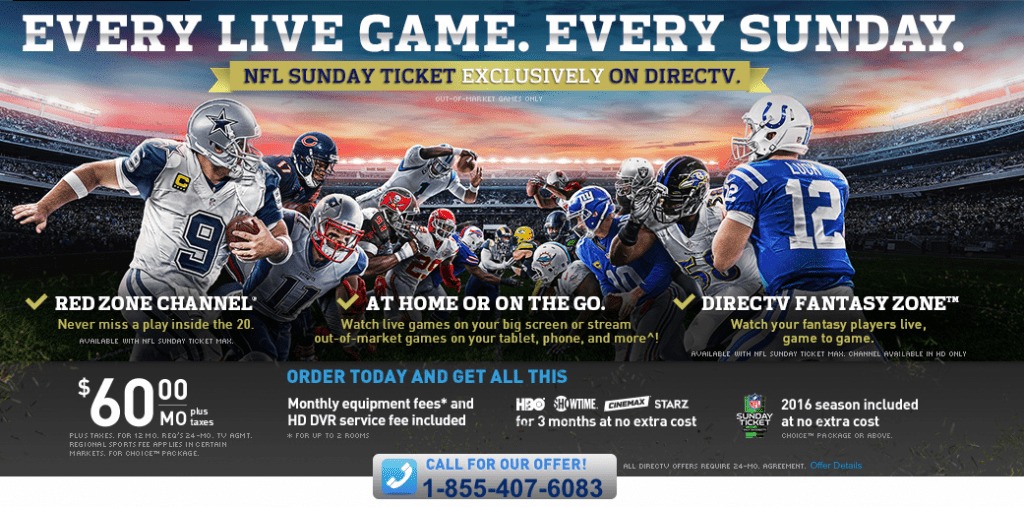 Get The NFL Sunday Ticket for Only $80 with Student Discount and this DirecTV Coupon Code. 10% Off NFL Sunday Ticket. All you need to do is to apply the code at checkout & get 10% Off NFL Sunday .