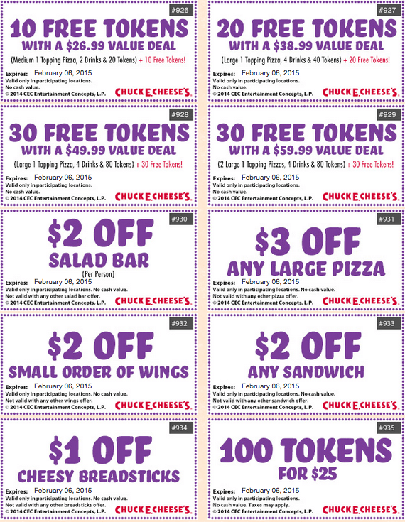 Chucky Cheese Coupons | 2017 - 2018 Best Cars Reviews