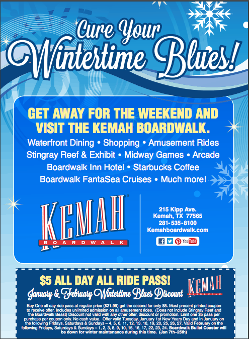 keemah boardwalk printable coupon - Kemah Boardwalk Coupons and Deals - Houston Area Fun for Families 2018