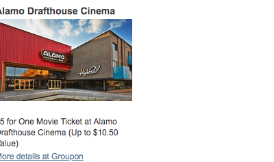 Alamo Drafthouse Coupon Deal – $5 Movie Tickets