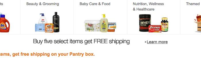 prime pantry free shipping pantry box