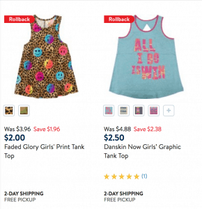 Girls Tank Tops at Walmart