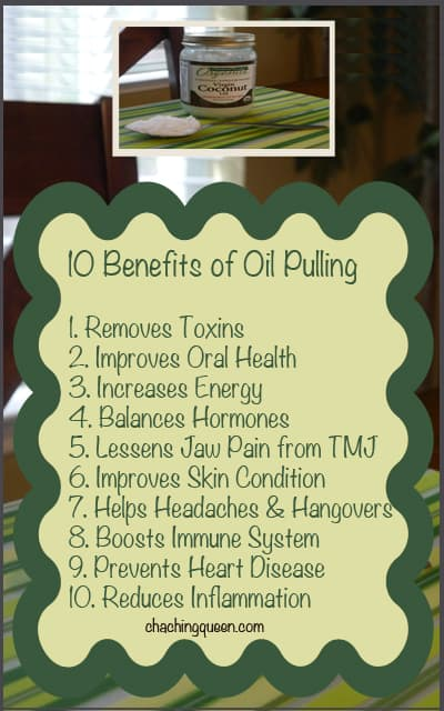 benefits of oil pulling-infographic cha ching queen