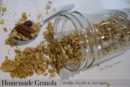 Homemade Granola Recipe - Healthy, Low Fat, Low Sugar