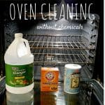 how to clean your oven without chemicals - vinegar and baking soda cleaning tips