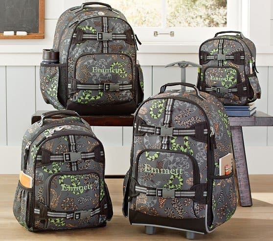 pottery barn kids backpacks discount deal free shipping