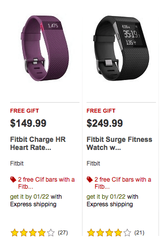 Best Price Fitbit One, Flex, Charge (HR), Surge, Zip target