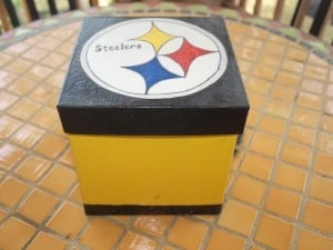 Pittsburgh Steelers decorated gift boxes diy gift ideas