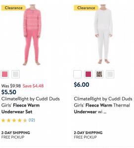 kids Fleece Warm Underwear Set Deal