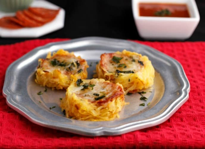 Gluten and Grain Free, Low Carb Recipes : Spaghetti Squash Pizza Nests
