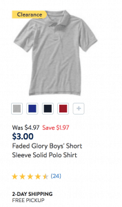 Discounted Kids Short Sleeve Polos