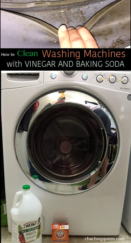 how to clean washing machines with baking soda vinegar