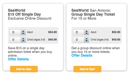 Sea world discount coupons
