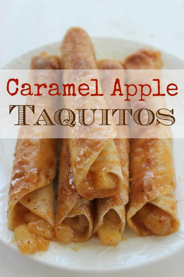 Caramel Apple Taquitos for Halloween
