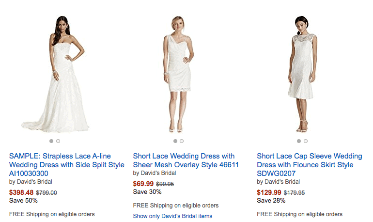 Deals on Wedding Dresses from David's Bridal