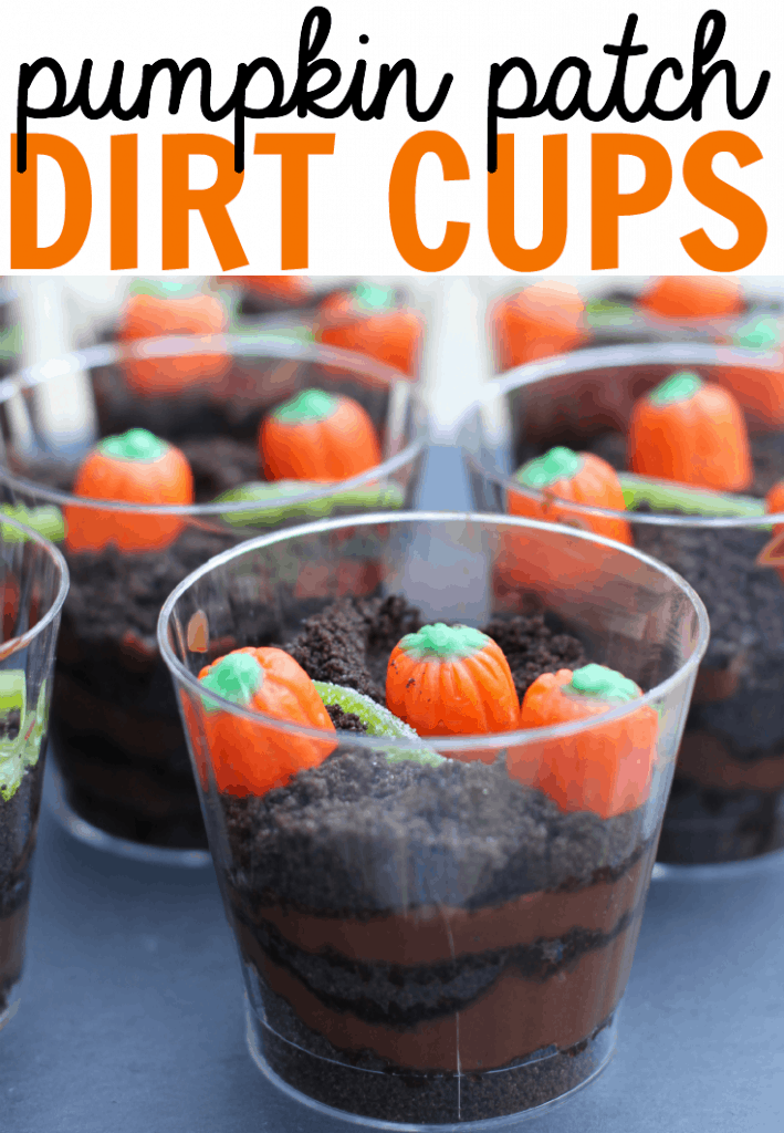 Pumpkin Patch Dirt Cup halloween recipe