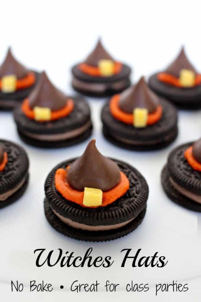 wiches hats halloween treat recipe no bake oreos