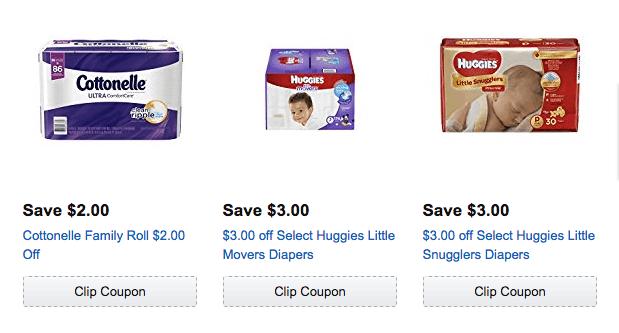 April 2017 Amazon clipable coupons