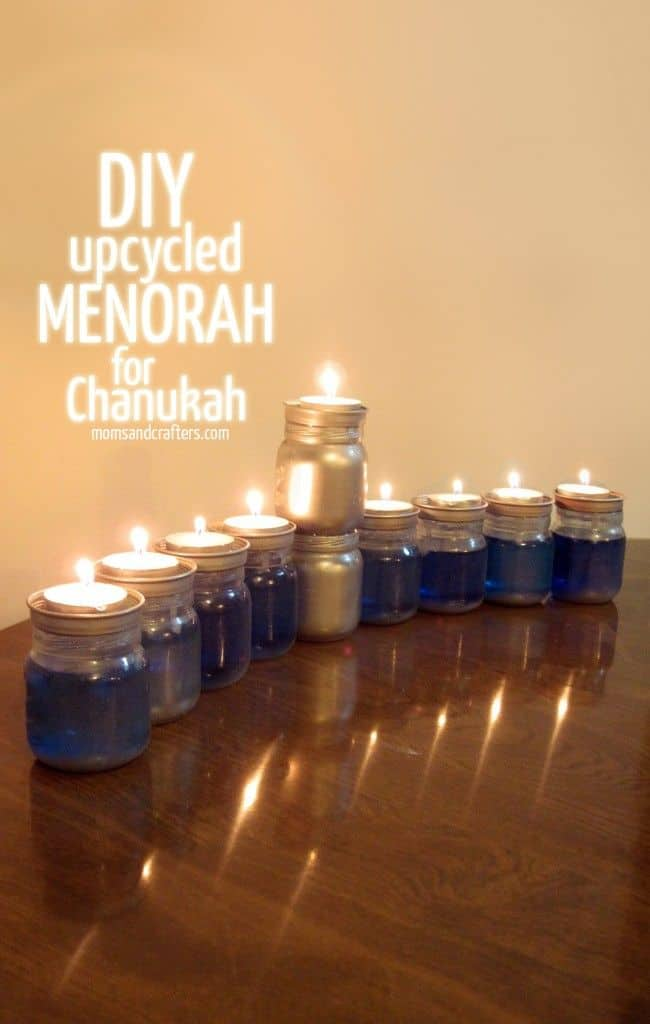 DIY Upcycled Chanukah Menorah - Hanukkah Craft