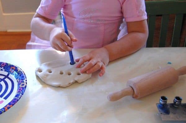 Do-it-Yourself Clay Menorah Hanukkah DIY Craft for Kids