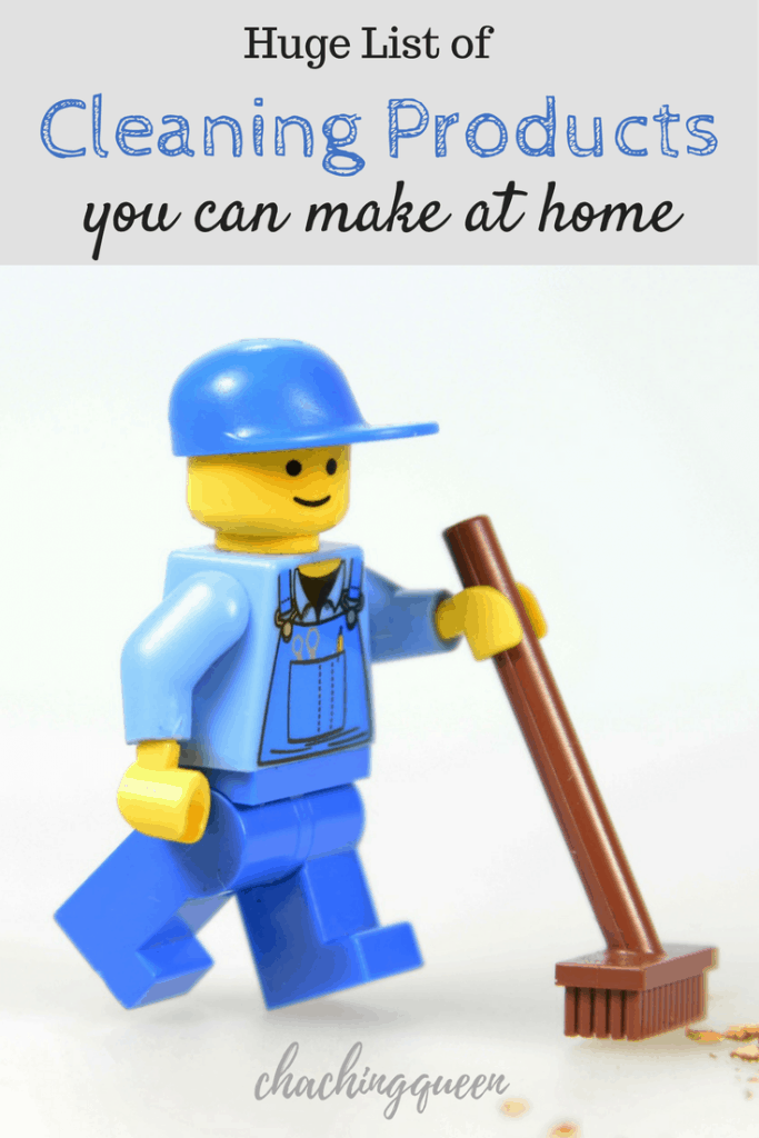 Huge List of cleaning products you can make at home