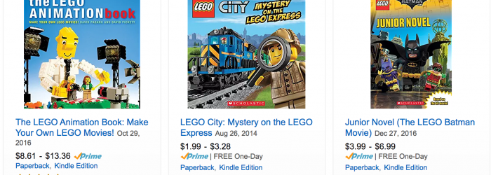 Kids LEGO Books Discounted on amazon getting kids to read more