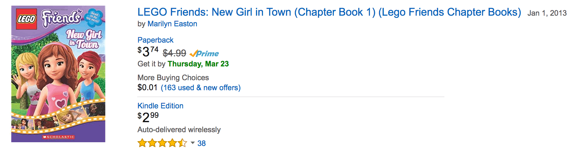 LEGO friends New Girl in Town legos books deals on amazon