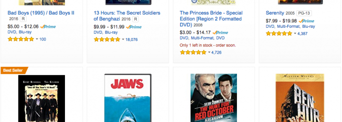 amazon movies deals - DVDs discounts 10 dollars and under