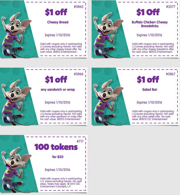 Chuck e cheese printable coupons nov 2018