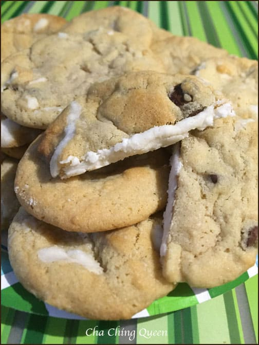 Surprise! Cream Filled Chocolate Chip Cookies Recipe