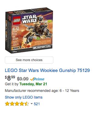 deal LEGO Star Wars Wookiee Gunship
