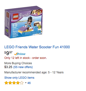 deal on lego girls - LEGO Friends Water Scooter Fun 41000