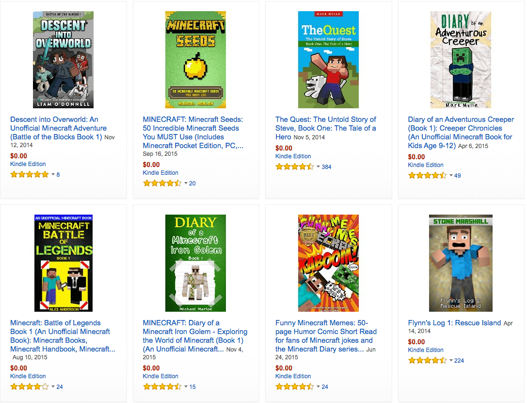 free minecraft books on kindle kids books