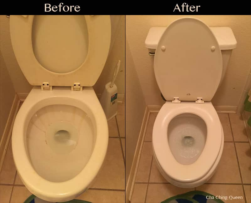 How To Clean A Toilet And Remove Hard Water Stains With Bowl Cleaner