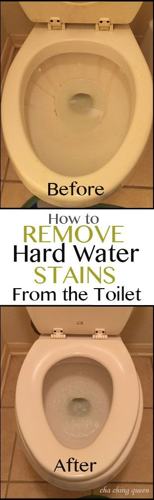 How to remove hard water stains from your toilet. Use these tips for how clean toilet bowl stains.