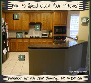 how to speed clean your kitchen keep kitchen clean organized cha ching queen