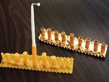 pasta menorah make at home for hanukkah