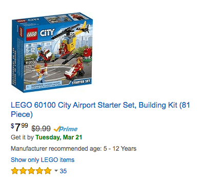 stock up discounts on LEGO - LEGO 60100 City Airport Starter Set, Building Kit