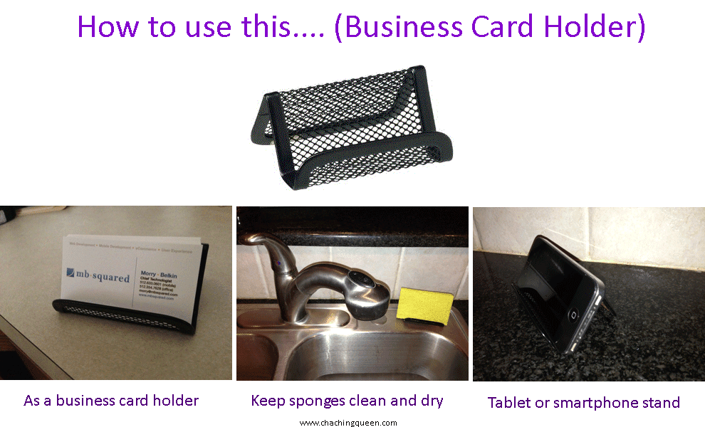 Alternate Uses for Business Card Holders