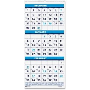 House of Doolittle 3-Month Vertical Compact Wall Calendar