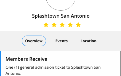 Splashtown San Antonio one free ticket with pogo pass