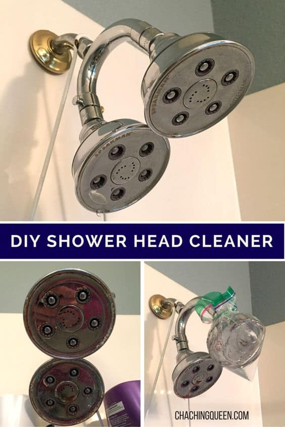 Diy How To Clean Your Shower Head With Vinegar Natural