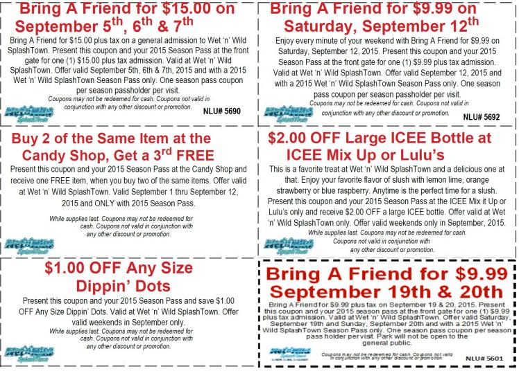 splashtown printable coupons san antonio waterpark - Splashtown Coupons and Discounts 2018